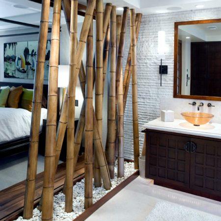 bambú decorativo para el baño
