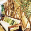 bambú decorativo en pared