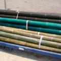 Bambú decorativo natural, azul o negro