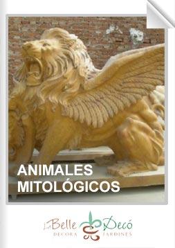 Estatuas de animales mitológicos