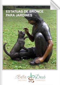 Estatuas de bronce para jardín