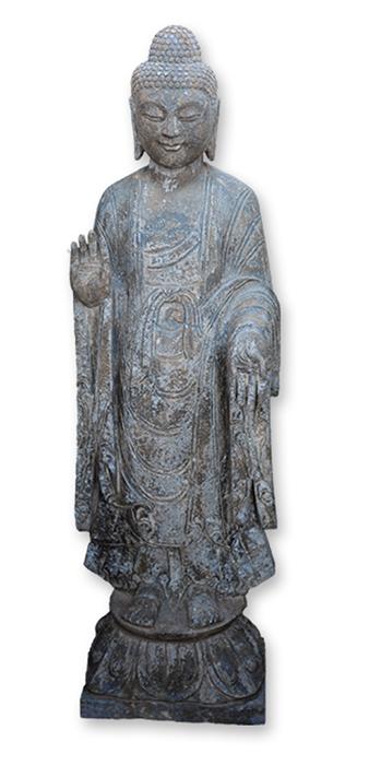 estatua buda jardinería