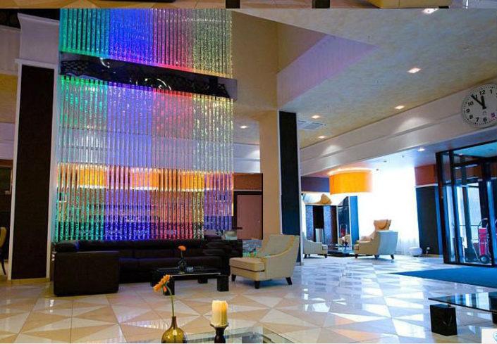 panel decoración sala burbujas colores