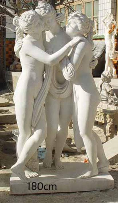 Estatua mármol jardín